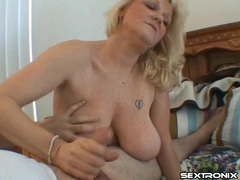 Big titty mature chick strokes his dick lustily videos