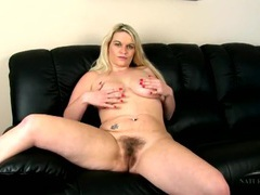 Big natural mature titties and a bush look gorgeous on her movies at sgirls.net