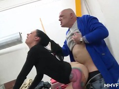 Bald old dude fucks a tattooed hottie hardcore movies at kilopills.com