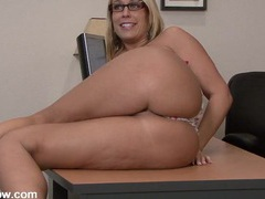 Big ass milf babe pleasures her cunt on a desk movies at kilosex.com