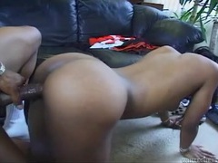 Bubble butt black girl fucked in her hairy vagina movies at lingerie-mania.com