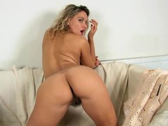 Cute curly hair and lots of pubes on a solo babe movies at kilogirls.com