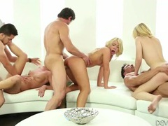 Young blondes and their guys have a wild orgy videos