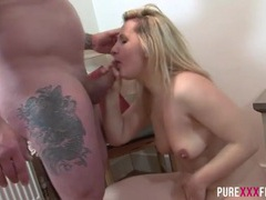 Cocksucking girl gives good head and gets laid tubes