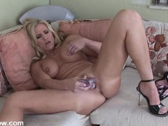 Busty naked mom banging her pussy with a toy videos
