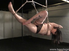 Devils asian suspension bondage tubes at asian.sgirls.net
