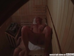 Two amazing figures spied in sauna movies at dailyadult.info