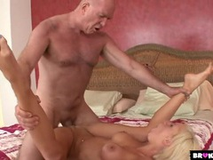 Slut gets the old man hard and takes a pounding movies at nastyadult.info