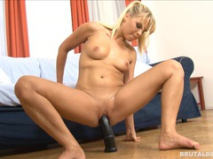Czech blonde barra brass gets gaped by a big brutal dildo movies at freekiloclips.com