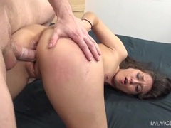Slim girl will take his dick in any position videos