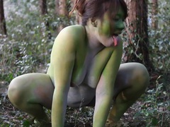 Stark naked japanese fat frog lady in the swamp hd videos