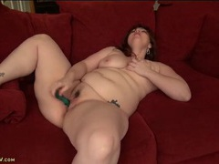 Solo naked fat girl fucks her cunt with a toy videos