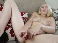 Dirty talk and dildo fucking with a british blonde movies at sgirls.net