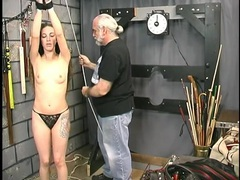 Binding the hands of a sub before spanking her videos