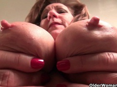 Naughty grannies claire and penny peel off their nylons videos