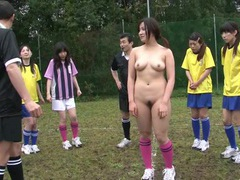 Sexy naked asian soccer playing babes on the field tubes at chinese.sgirls.net
