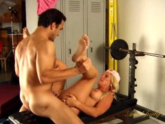 Sporty pigtailed blonde mommy fucked in the gym videos