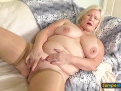 Old plumper in sexy stockings pleasures her pussy movies at kilopics.net