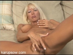 Rock hard nipples on a masturbating mature blonde videos