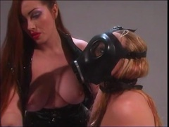 Kinky gas masks and bondage on two beautiful girls movies at kilopics.net
