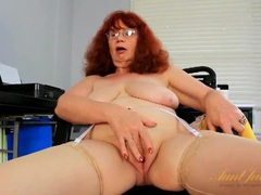 White lace lingerie set on a chubby mature redhead movies at kilopics.net
