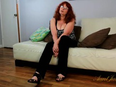 Busty mature redhead in a sexy interview movies at kilotop.com