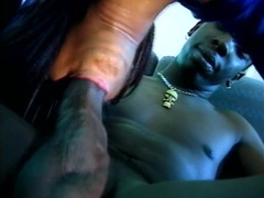 Hairy black pussy fucked hardcore on the bus movies at sgirls.net