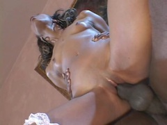Skinny and smoking hot black girl is a wild dick rider movies at sgirls.net