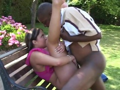 Slamming a white slut from behind outdoors videos
