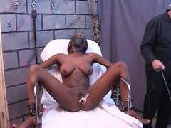 Black bdsm submissive finds pussy pain thrilling movies at kilosex.com