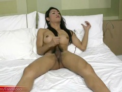Fit ladyboy blows a white guy in her hotel room movies at kilotop.com
