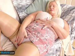 Busty granny lacey has wet cunt by europemature videos