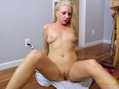 Naked milf rubs her shaved pussy tenderly movies at sgirls.net