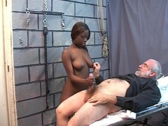 Hairy old man fucks a sexy black submissive videos