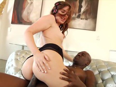 Red haired sexy babe jodi taylor ass riding massive monstrous black cock tubes