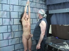 Bondage play warms her up for a hard spanking tubes