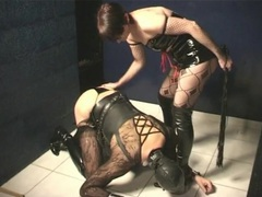 Sissy submissive spanked and abused by her mistress videos