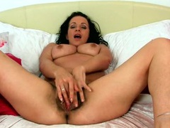 Hairy mom opens her legs wide to show off her bush movies at sgirls.net