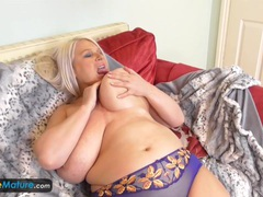 Old chubby sami plays with big tits videos