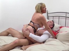 Big young dick drills her wet mature pussy videos