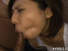 Sexy asian girl sucks dick in a bathroom stall tubes at asian.sgirls.net