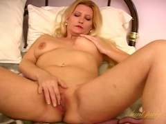 Shaved milf pussy pleasured by fingers and a toy movies at sgirls.net