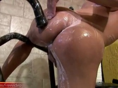 Messy solo shemale fingers her slippery ass videos