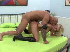 Sexy leather boots on a dick riding blonde chick movies at freekilomovies.com