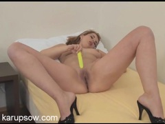 Yellow boyshorts are beautiful on a stripping girl movies at kilovideos.com
