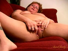 Chubby naked mature chick masturbates on her couch movies at find-best-pussy.com
