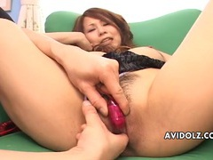 Japanese cunt is all wet from dildo play videos