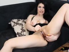 Wonderful dirty talk as she fucks a dildo movies at sgirls.net