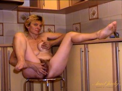 Nice big bush on this masturbating mature babe movies at sgirls.net