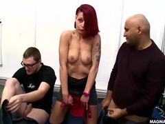 Punk gives a blowjob to a total stranger tubes